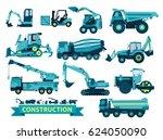 vector big set of ground works  ... | Shutterstock .eps vector #624050090