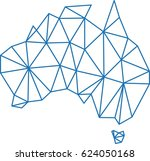 blue polygon outline australia...   Shutterstock .eps vector #624050168