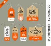 vector label paper brown and... | Shutterstock .eps vector #624056720