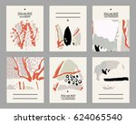 set of creative abstract vector ... | Shutterstock .eps vector #624065540
