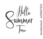 hello summer time | Shutterstock .eps vector #624067523