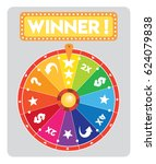multicolored lucky wheel flat... | Shutterstock .eps vector #624079838