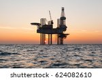 offshore jack up rig in the... | Shutterstock . vector #624082610
