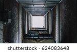 view up through an old...   Shutterstock . vector #624083648