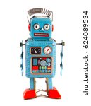 vintage tin toy robot | Shutterstock . vector #624089534