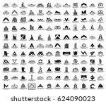 mega set and big group  real... | Shutterstock .eps vector #624090023