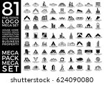 mega set and big group  real... | Shutterstock .eps vector #624090080