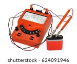 analog vintage multimeter with... | Shutterstock . vector #624091946