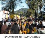 thaipusam  hindu festival in... | Shutterstock . vector #624093839
