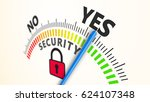 security indicator internet 3d... | Shutterstock . vector #624107348