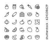 food line vector icons 10 | Shutterstock .eps vector #624108629