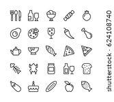 food line vector icons 1 | Shutterstock .eps vector #624108740