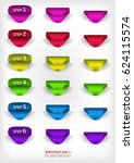 set of website banners and... | Shutterstock .eps vector #624115574