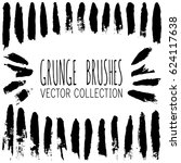 vector set of vintage black... | Shutterstock .eps vector #624117638