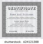 grey certificate of achievement ... | Shutterstock .eps vector #624121388