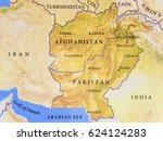 geographic map of afghanistan... | Shutterstock . vector #624124283