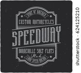 vintage label design with... | Shutterstock .eps vector #624125210
