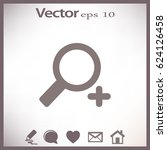 flat vector zoom in icon