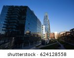 """Small photo of MILAN, ITALY MARCH 28, 2017 - View of Diamante (Diamond) Tower and Samsung electronic building inside """"Porta Nuova"""" Area in Milan, near Garibaldi train Station, Italy."""