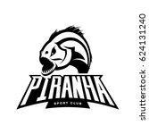 furious piranha sport vector... | Shutterstock .eps vector #624131240