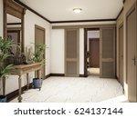 spacious hall basement ... | Shutterstock . vector #624137144