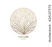 vector logo of floral element.... | Shutterstock .eps vector #624137573
