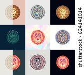 set of lion logos. abstract... | Shutterstock .eps vector #624141014
