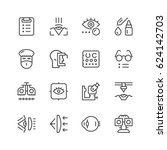 set line icons of ophthalmology | Shutterstock .eps vector #624142703
