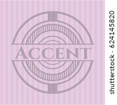 accent badge with pink... | Shutterstock .eps vector #624145820