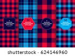 lumberjack seamless patterns... | Shutterstock .eps vector #624146960