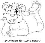 doodle animal for bear cub... | Shutterstock .eps vector #624150590
