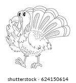 doodle animal for turkey... | Shutterstock .eps vector #624150614