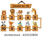 counting numbers one to ten... | Shutterstock .eps vector #624152804
