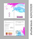 business brochure template with ... | Shutterstock .eps vector #624153320