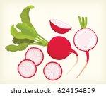 radish vector | Shutterstock .eps vector #624154859
