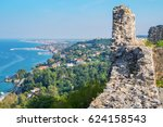 view from platamonas castle to... | Shutterstock . vector #624158543