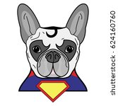 superhero symbol  as  a french... | Shutterstock .eps vector #624160760