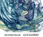 abstract fractal background.... | Shutterstock . vector #624160880