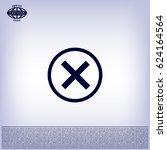 delete icon. cross sign in... | Shutterstock .eps vector #624164564