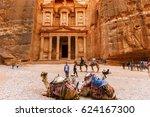 petra  jordan  march 16  2017 ... | Shutterstock . vector #624167300