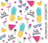 Summer Pattern. Watermelon ...