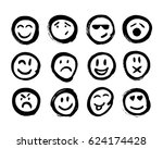 set of emoticons. set of emoji. ... | Shutterstock .eps vector #624174428