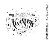 mothers day greeting card. my...   Shutterstock .eps vector #624176960