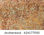 background old relief rusty... | Shutterstock . vector #624177050