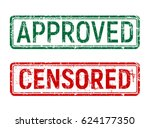 green and red vintage approved... | Shutterstock .eps vector #624177350