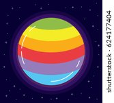 the space planet in flowers of... | Shutterstock .eps vector #624177404