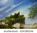 Fantasy Landscape With Cliff ...