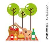 picnic concept design | Shutterstock .eps vector #624183614