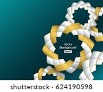 3d background with white and... | Shutterstock .eps vector #624190598