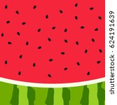 Watermelon Slice Background...